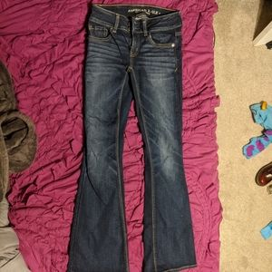 American Eagle flare jeans 0 short